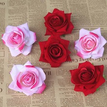 7CM Head,7 Colors Real Touch Flower Heads Artificial Silk Small Roses,DIY Bouquet Accessories Wedding Decoration,Garland Hair