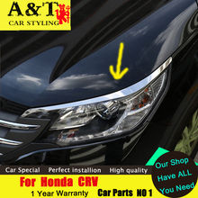 A&T car styling For Honda CRV headlight trim brow cool Manchester 2015 2016 CRV trim before changing lamp dedicated eyeli