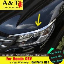 A&T car styling For Honda CRV headlight trim brow cool Manchester 2015 2016 CRV trim before changing lamp dedicated eyeli
