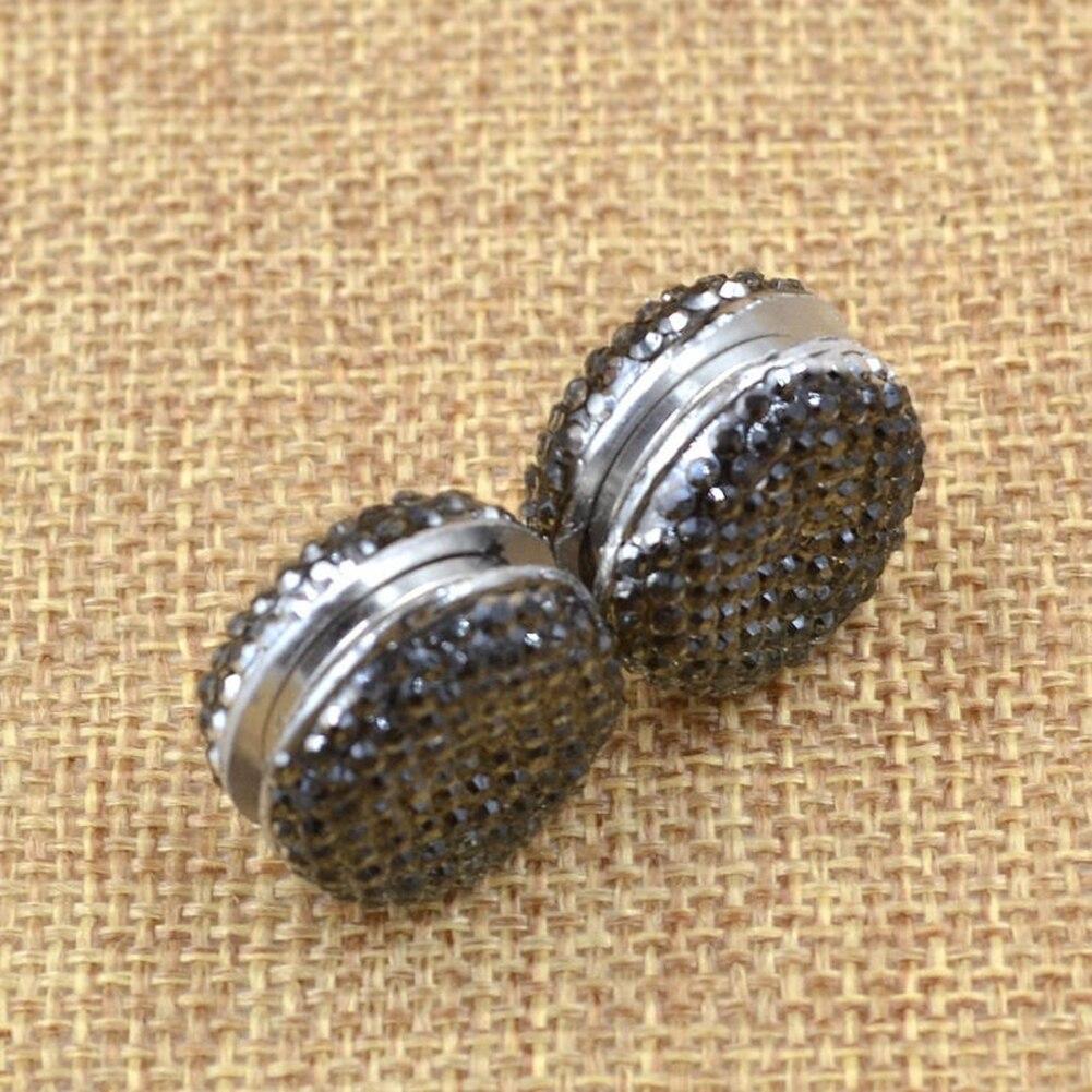 Image 3 - New Fashion Jewelry Scarf Pins 2 Pcs Plastic Muslim Headscarf  Abaya Clasp Brooch Magnetic Shawl Scarf Magnet PinBrooches   -