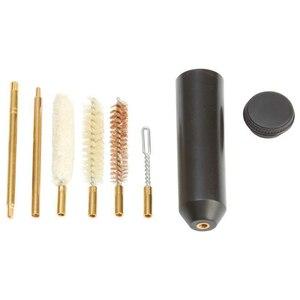 7 шт./компл., профессиональные инструменты для чистки пистолета 38/357/9 мм, карманный размер, комплект для чистки пистолета, ручная штанга