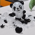 Nuevo Panda Blingbling 3D Rompecabezas Bebé Juguetes Encantadores para Niños Hermoso Cristal Rompecabezas 53 unids