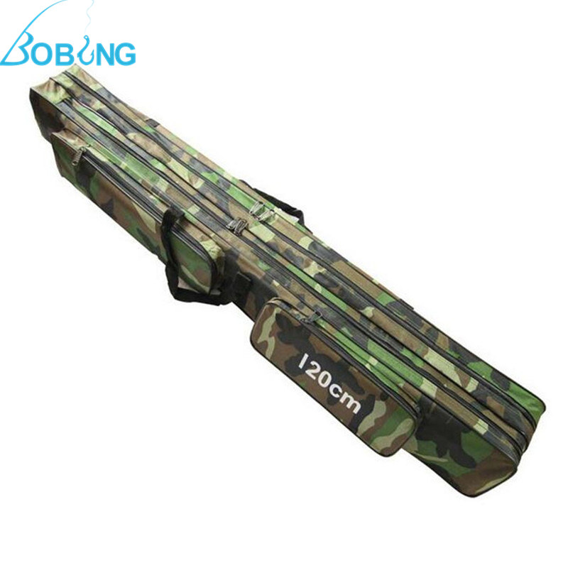 Bobing 120cm camouflage carp fishing rod tackle bag case for Fishing backpack with rod holder
