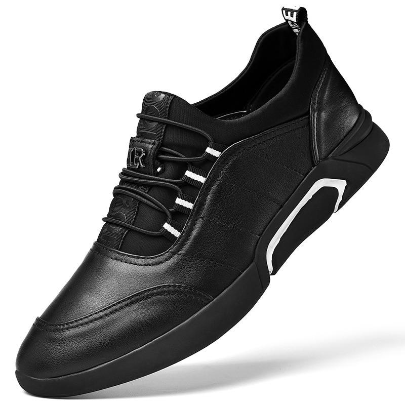 Sapatos De single Qualidade Mens Plus Couro Novo Masculinos Size 2018 Heighten Shoes 39 46 Respirável up Flats Alta Shoes Casual Genuíno Lace IYqxqRCw