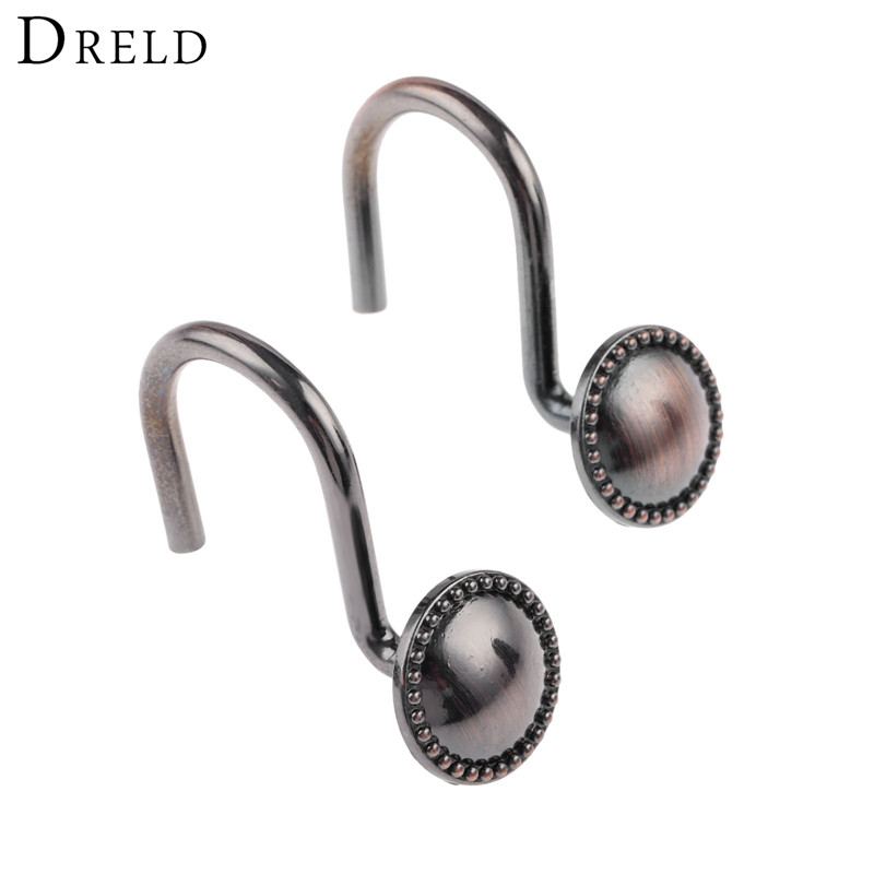 DRELD 12Pcs/set European Bronze Color Zinc Alloy Metal Shower ...