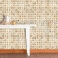 Adesivos de parede móveis adesivos da telha impermeável mosaico bege vintage