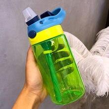 New 480ml cute Eco-friendly for Kid baby cartoon School Camp water bottle sport  children Straw kettle sports