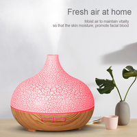 Home Aroma Essential Oil Diffuser 400ML air humidifier ultrasonic for Office Home mist discharge 7 Color Changing LED Light