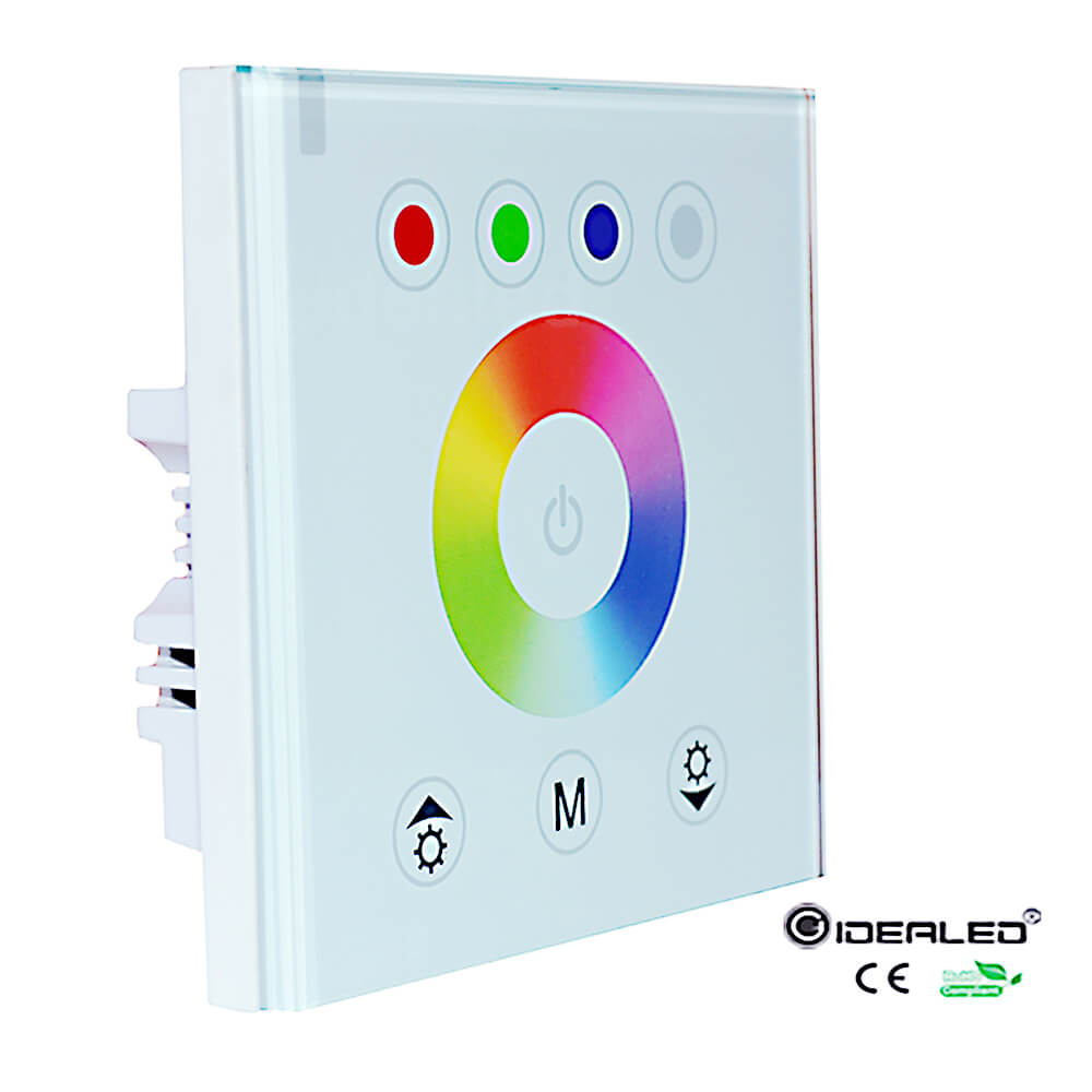 wall mounting switch RGBW Controller touch pannel 4 channel dimmer strip controller for RGB RGBW strip light DC12V-24V
