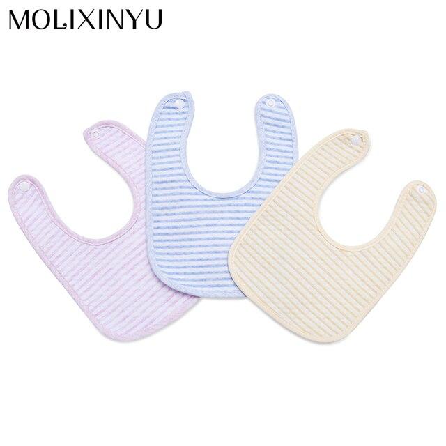 MOLIXINYU 2018 Lovely Baby Bib Toddler Infant Burp Cloths Cotton Waterproof Bandana Bibs Solid Color Baby Stuff
