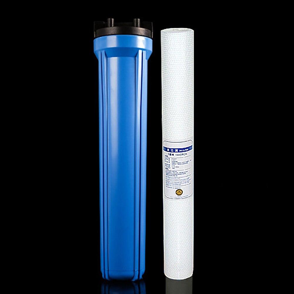 20 pouce d'étape unique filtre PP pré-filtre à eau grand débit purificateur protecteur 35 kg anti-déflagrant avec 1/2