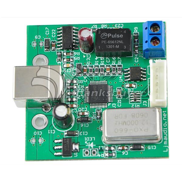 Ljm USB to SPDIF Coaxial I2S Processor Converter SA9023 Chip Support 24 bit 96K Sampling