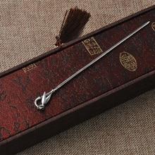 Palillo de pelo de hoja de bambú para mujeres, horquilla de Plata de Ley 925, joyería étnica China hecha a mano, horquillas de pelo Vintage China Air Express