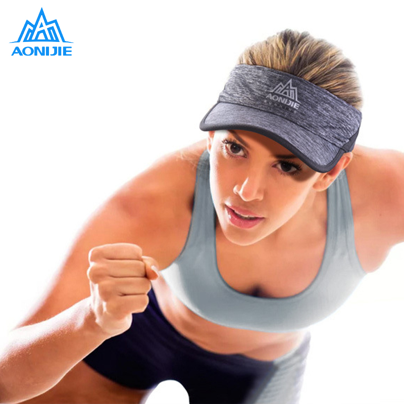 Women Men Outdoor Running Caps Baseball Empty Top Hat Sport Marathon Visor Cap Casquette Camping Hiking Anti UV Sports Cap