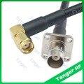 BNC гнездо 4 четыре отверстия панель для RP-SMA разъем правый угол RF RG58 Pigtail джемпер коаксиальный кабель 40 дюймов 100 см Новинка