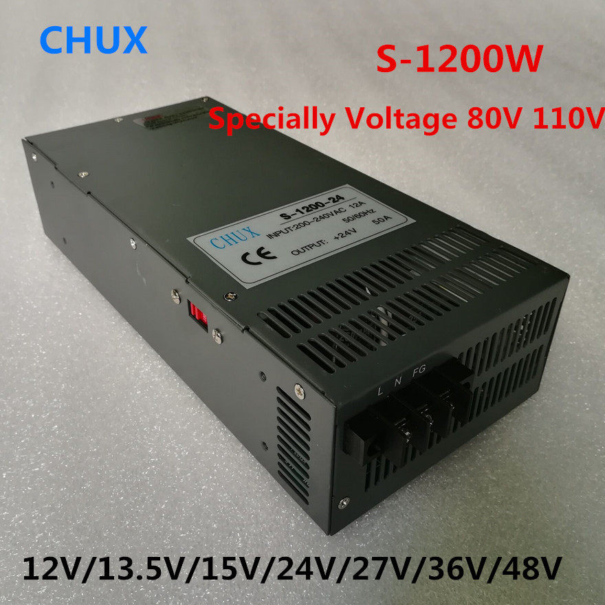 1200W Switching Power Supply 12V 13.5V 15V 24V 27V 36V 48V 80V 110V for LED Strip light 110v 220v 1200w ac to dc power supply switching power supply 50w 12v 24v double output ac dc power supply for led strip transformer ac 110v 220v to dc 12v 24v