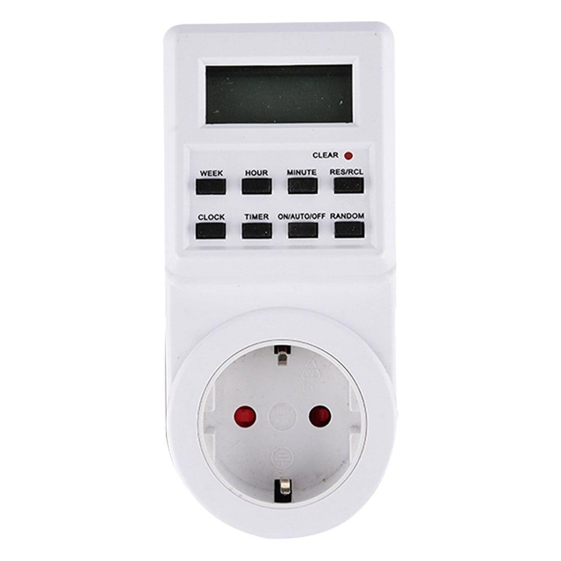 Hot! EU/US/UK/AU 230 V Stecker Schaltsteckdose Plug-in Programmierbare Zeitschaltuhr steckdose mit Uhr Sommer Zufallsfunktion