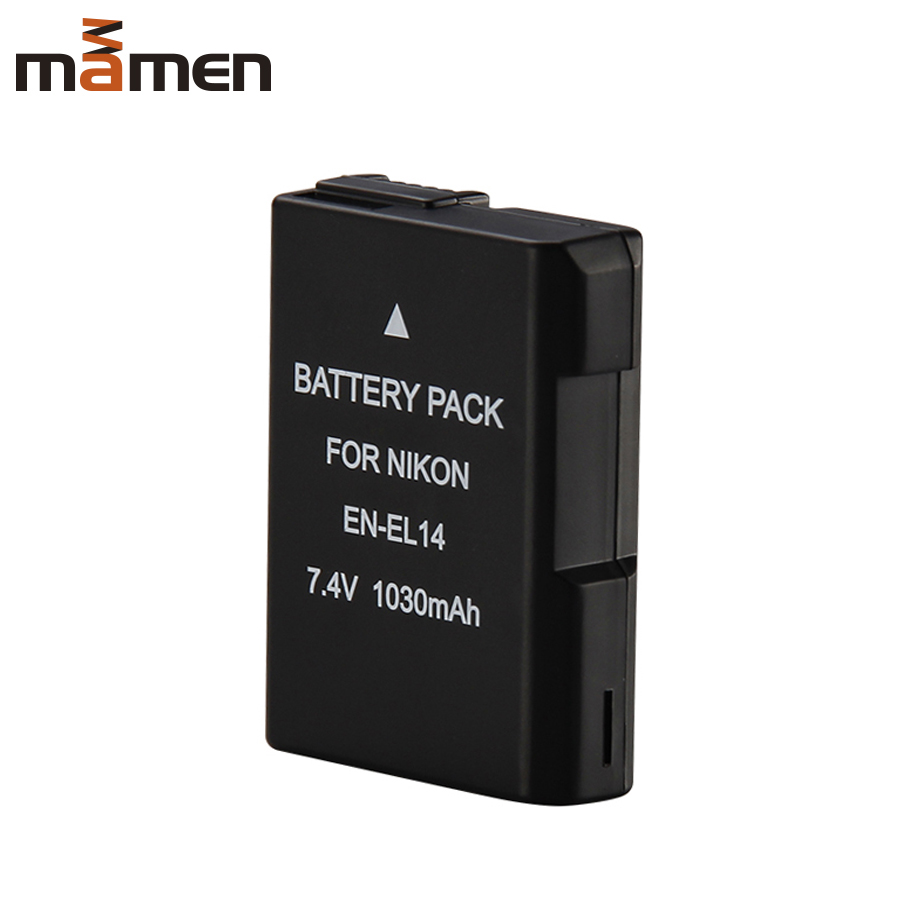 Mamen EN EL14 EN-EL14 ENEL14 Camera Battery For Nikon Coolpix D3100 D3200 D5200 P7100 P7700 Battery 1030mAh SLR DSLR LI-Battery(China)