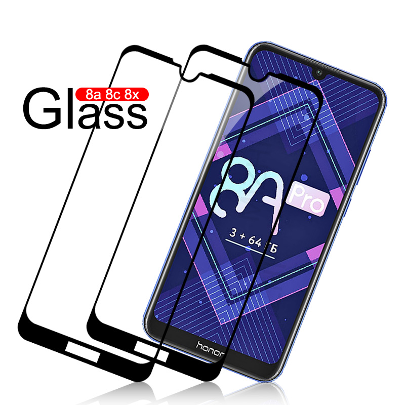 2pcs Protective Glass On For Huawei Honor 8a 8c 8x Screen Protector Protective Film For Hvawei Honor 8 A C X C8 A8 X8 Cover Case
