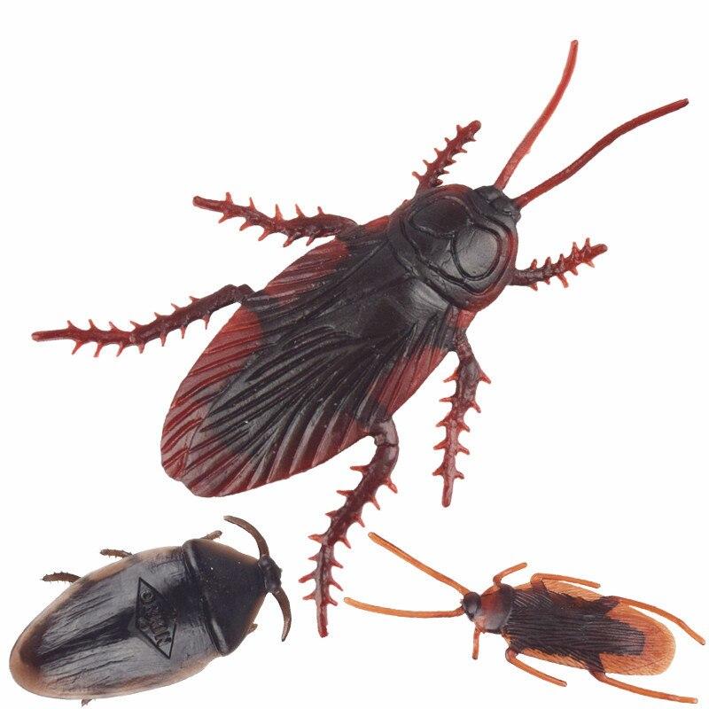10pcs Fake Roaches Prank Novelty Cockroach The Halloween Props Gag Joke Novelty Toys For Children