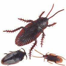 Novelty Toys Prank Fake Cockroach Joke Halloween-Props Children for Gag 10pcs The