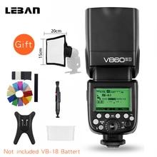 Godox Ving V860II V860II C/N/S/F/O E TTL HSS 1/8000 Speedlite Flash cho Canon Nikon sony DSLR Mà Không Cần VB 18 Pin