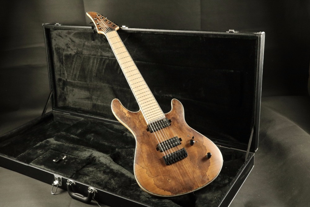 hign end quality 8 string neck through body string through body electric guitar guitarra. Black Bedroom Furniture Sets. Home Design Ideas