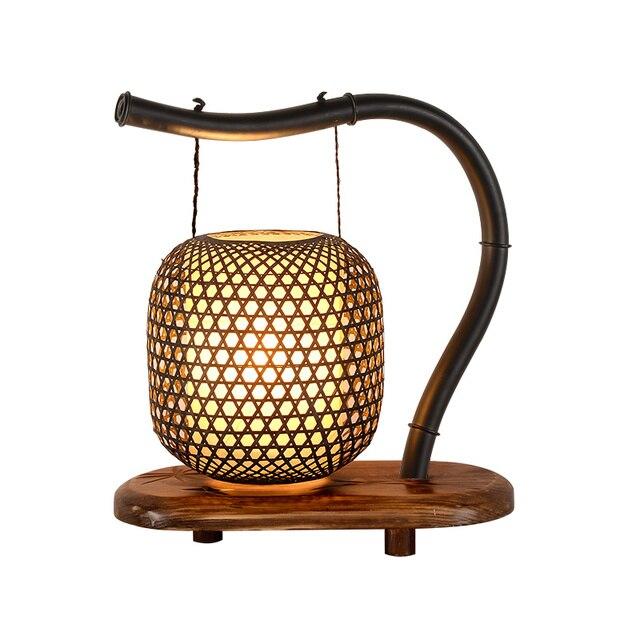 Bambou classique lampes de Table créatif Zen salon chambre chevet ...