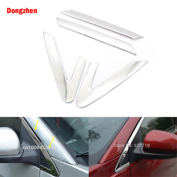 Dongzhen 4 pcs Styling Mobil Depan Jendela Segitiga Sill Potong Chrome untuk Chevrolet Cruze 2009-2014 Auto Dekoratif Perlindungan