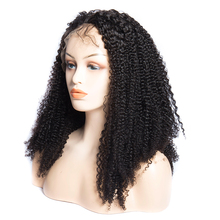 Mongolian Afro Kinky Curly Wig Natural 1B Lace Front Human Hair Wigs For Black Women Pre Plucked 150 Density Remy Wigs