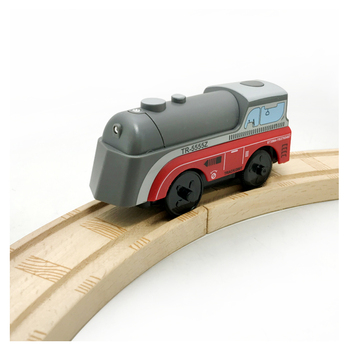 Combination of magnetic Electric Train Toys Magnetic Slot Diecast Toy Birthday Gifts For Kids Compatible wooden track W1 zhenwei magnetic thomas train wooden track car children s puzzle early learning toy cake decoration diecast train action figure
