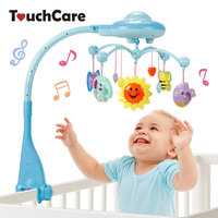 Touchcare Musical Crib Mobile Bed Bell Baby Rattle With Teether Rotating Flashing Bracket Projecting Toy Newborn