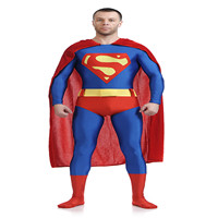 Kids Adult Superman Costume Superman 3D Shade Spandex Lycra Halloween And Cosplay Zentai Suit Hot Sale