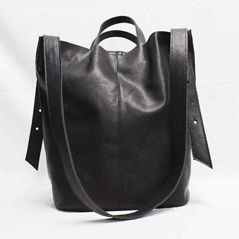 AETOO 2019 new retro literary solid simple genuine leather shoulder bag wild fashion leather handbag large capacity bucket bagAETOO 2019 new retro literary solid simple genuine leather shoulder bag wild fashion leather handbag large capacity bucket bag