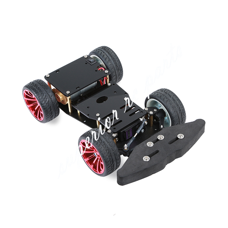 4WD RC Smart S3003 Metal Servo Bearing Car Chassis with Differential for Arduino Platform DIY 4 Wheel Robot Car PS2 Compatiable цена