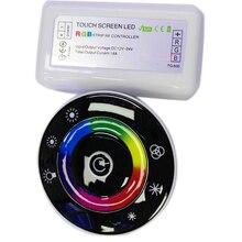 DC12V-DC24V LED Touch Round RGB Controller 18A 7 Keys RF Remote controller for 3528 2835 5050 LED strip lights