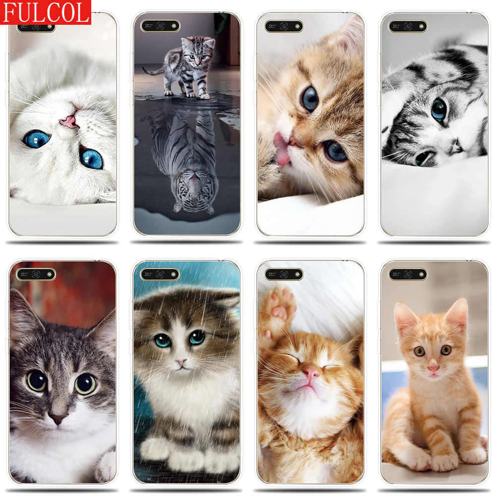 Silicone Case for Huawei Honor 5A 6X 7X 7A 7C 7S 8C 8X Cover Cute Pet Cat Patterned for Fundas Honor 8 9 10 Lite Phone Case