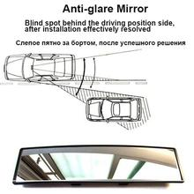 2018 Antiglare Car Interior Rear View Mirror Panoramic Clip-on Wide Angle Rearview Mirrors Wire Drawing Frame Styling