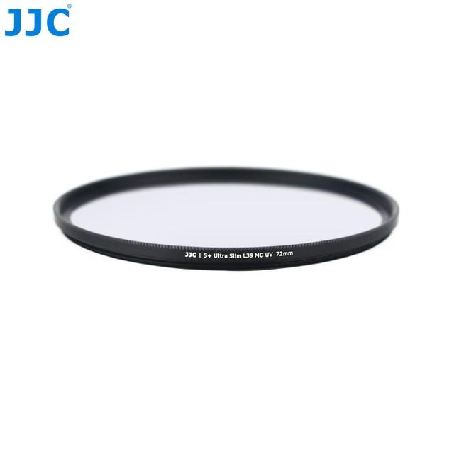 JJC F-WMCUV72 (S+) Ultra Slim 0.7mm Thickness 9H Glass 99.5% Light Transmission Multi-Coated UV MCUV Camera Filter (72mm)
