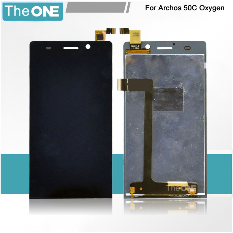 5 For ARCHOS 50C Oxygen LCD Display+Touch Screen Digitizer Glass Sensor Full Assembly Repartment With Tracking No