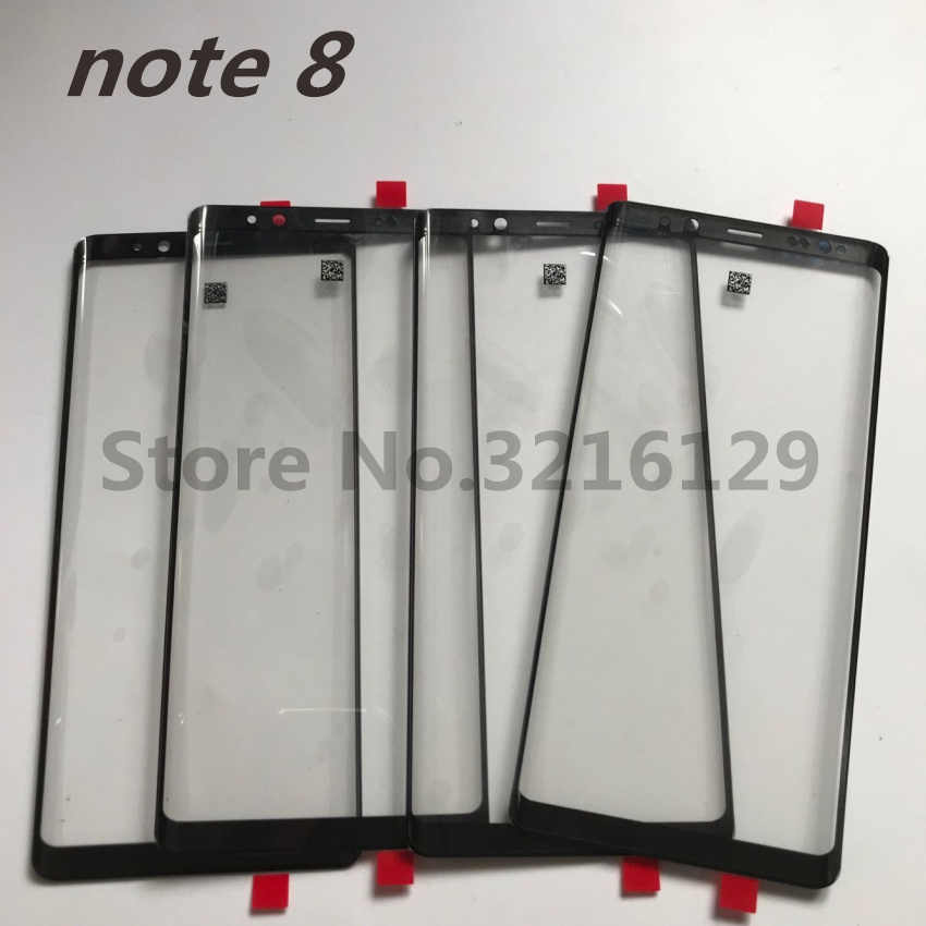 استبدال الأصلي جديد LCD تعمل باللمس الجبهة الخارجي زجاج عدسة لسامسونج غالاكسي ملاحظة 8 N950 N950F 6.3''