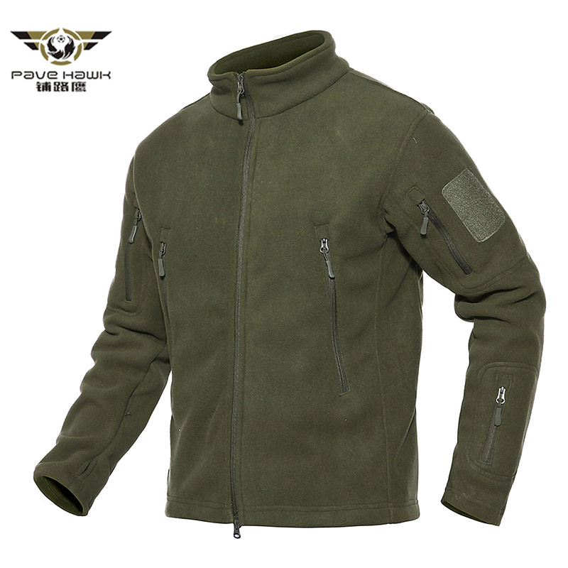 New 2018 Winter Warm Military Thermal Fleece Jacket Men Multi Pockets Army Tactical Jacket Autumn Outwear Hooded Casual Coats