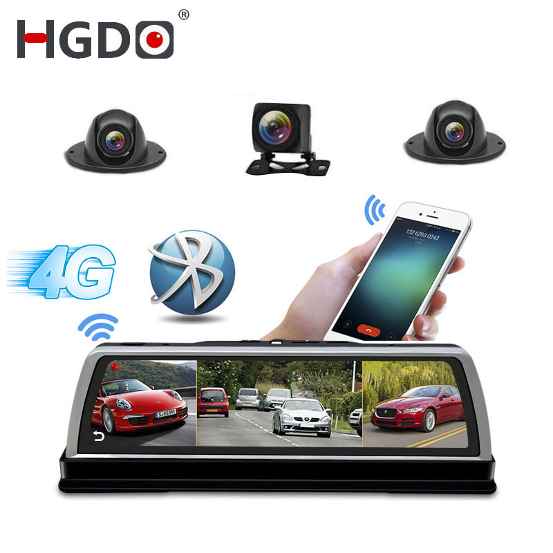HGDO 4-Channel Car-Dvr-Camera Mirror Video-Recorder Dash-Cam ADAS Android FHD New 8-Core
