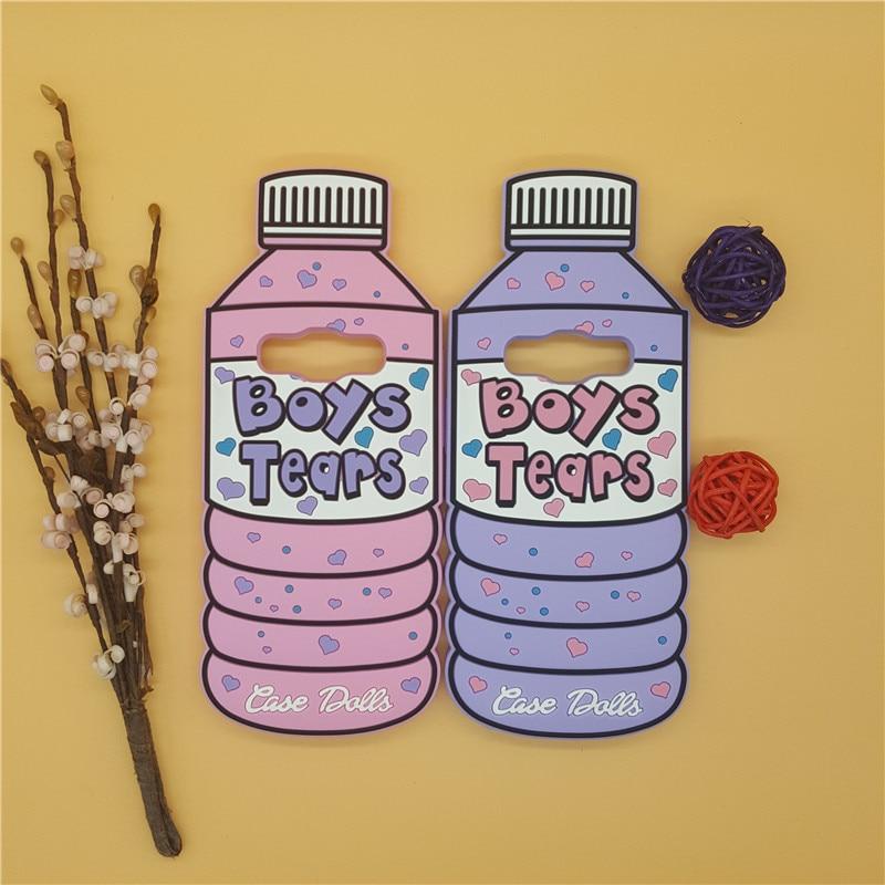 3D Boys Tears Mineral Water Liquid Bottle <font><b>Case</b></font> Cover for Samsung <font><b>Galaxy</b></font> 2015 2016 2017 A3 A5 A7 <font><b>J3</b></font> J5 J7 Grand Prime G530