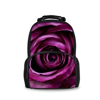 FORUDESIGNS 3d Big Floral Rose Printing School Bags For Teenagers Girl Pink Canvas Backpack Women Travel