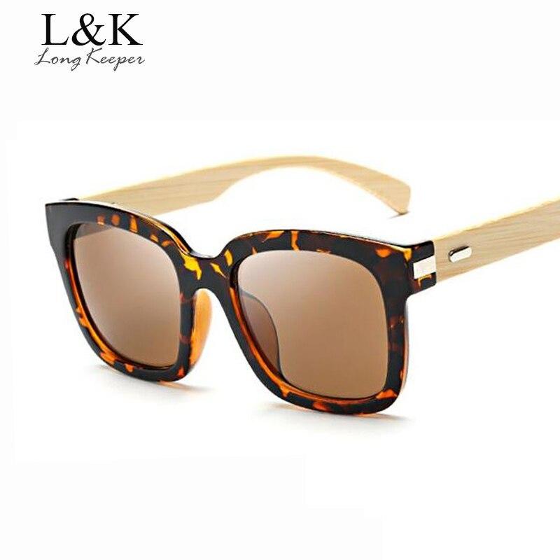 08600c4354 Long Keeper vintage Gafas de sol madera de gran tamaño Gafas de Sol para  las mujeres hombres Bambú de madera original Sol Gafas retro eyewares g1512