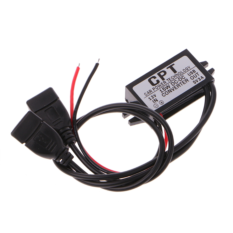 12V to 5V 3A Double USB to Auto Power Regulator Voltage Step Down Module For Car