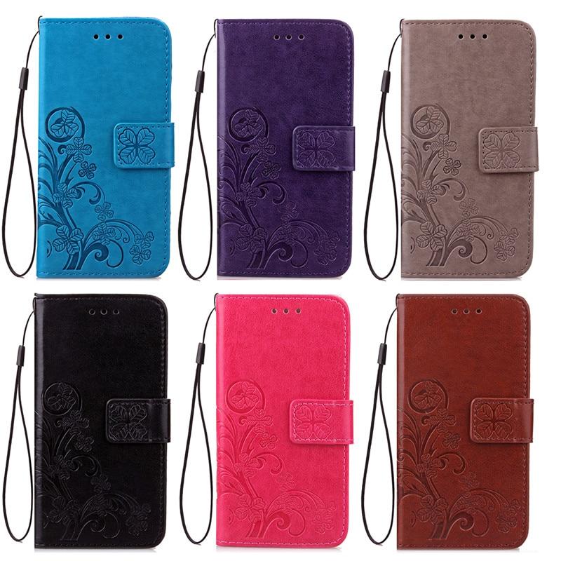 Цена за Новый для Xiaomi Redmi 4x caus четырехлистного клевера Coque hoesjes искусственная кожа Стенд Флип Бумажник Обложка Redmi 4x случае карты Слоты (SS0516)
