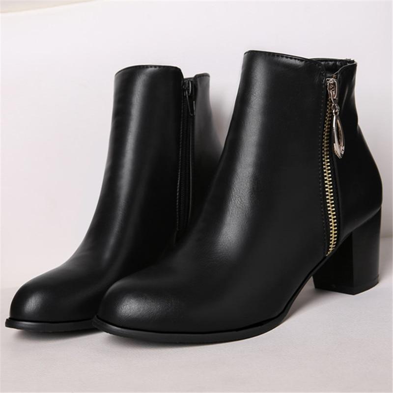 Plus Size 34-45 New შემოდგომა ზამთარი - ქალის ფეხსაცმელი - ფოტო 4