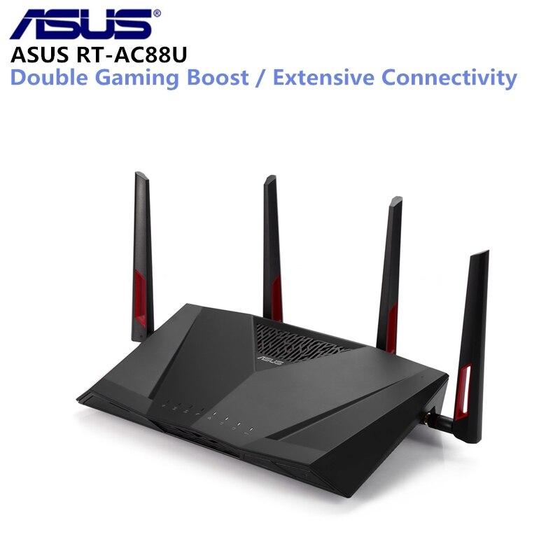 ASUS RT-AC88U Routeur Sans Fil MIMO Technologie Double Bande Réseau WiFi Répéteur 1800 Mbps Soutien VPN IEEE 802.11n/g/ b/un